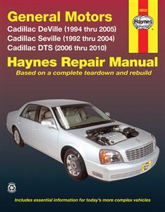 Cadillac DeVille 1994-05 Seville 1992-04 & DTS 2006-10 Repair Manual