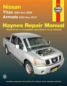 Nissan Titan 2004-09 & Armada 2005-10 Repair Manual