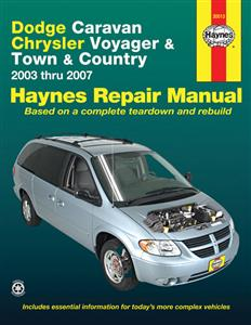 Dodge Caravan Chrysler Voyager And Town & Country 2003-07 Repair Manual Petrol