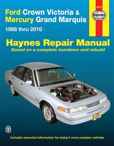 Ford Crown Victoria & Mercury Grand Marquis 1988-2010 Repair Manual