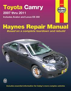 Toyota Camry 2007-11 Petrol Repair Manual Includes Avalon and Lexus ES350