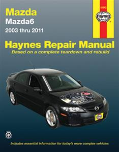 Mazda 6 (Atenza) 2003-11 Repair Manual Petrol 2.3 & 2.5
