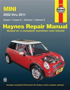 Mini 2002-2011 Repair Manual Petrol Incl Cooper, Cooper S, Clubman & Clubman S
