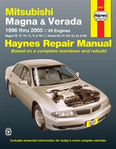 Mitsubishi Magna and Verada (NZ Diamante) 1996-2005 Repair Manual