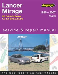 Mitsubishi Lancer And Mirage 1996-07 Repair Manual Petrol 1.5 1.8 2.0 2.4