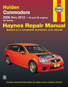 Holden Commodore VE 2006-12 Repair Manual