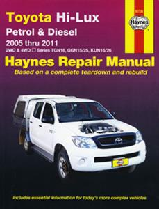 Toyota Hilux 2005-11 Repair Manual 2.7 4.0 Petrol & 3.0 Turbodiesel
