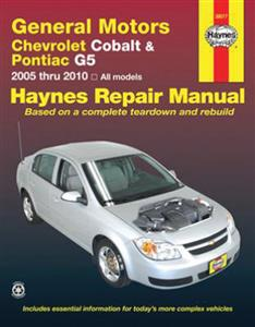 Chevrolet Cobalt 2005-09 & Pontiac G5 2007-09 Repair Manual