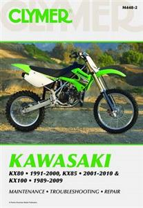 Kawasaki KX80 1991-200 KX85 2001-10 & KX100 1989-2009 Repair Manual