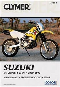 Suzuki DR-Z400E S & SM 2000-2012 Repair Manual
