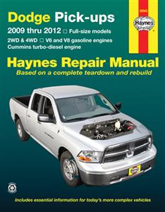 Dodge Pickups 2009-2012 Repair Manual Petrol & Diesel