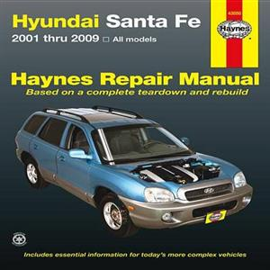 Hyundai Santa Fe Petrol 2001-09 Repair Manual