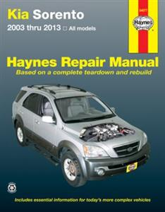 Kia Sorento 2003-13 Repair Manual Petrol