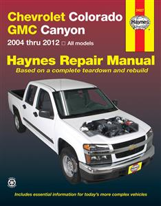 Chevrolet Colorado & GMC Canyon 2004-2012 Repair Manual