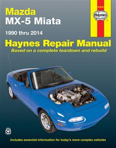 Maxda MX5 Miata 1990-2014 Repair Manual 1.6 1.8 & 2.0