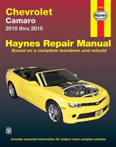 Chevrolet Camaro 2010-2015 Repair Manual NO CONFIRMED RELEASE DATE