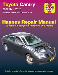 Toyota Camry 2007-15 Petrol Repair Manual Includes Avalon and Lexus ES350