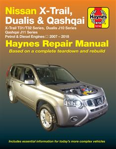 Nissan X-Trail Dualis & Qashqai 2007-2018 Repair Manual Petrol & Diesel