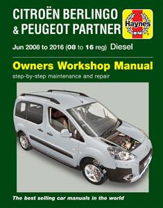 Citroen Berlingo & Peugeot Partner 2008-16 Repair Manual Petrol & Diesel