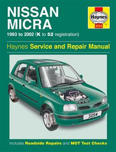 Nissan Micra (March) 1993-2002 Repair Manual 1.0 1.3 1.4 Petrol