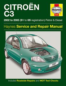 Citroen C3 2002-05 Repair Manual Petrol And Diesel NOT Sensodrive