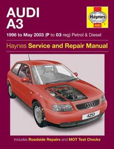 Audi A3 1996-03 Repair Manual 4 Cylinder Petrol & Diesel NOT quattro S3 or tiptronic