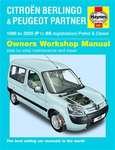 Citroen Berlingo & Peugeot Partner 1996-2005 Repair Manual Petrol & Diesel