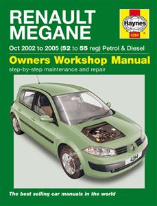 Renault Megane 2002-05 Repair Manual 1.4 1.6 Petrol & 1.5 1.9 Diesel