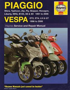 Piaggio Vespa Scooters 1991-2006 Repair Manual