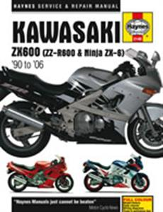 Kawasaki ZX600 ZZ-R600 And Ninja ZX-6 1990-2006 Repair Manual