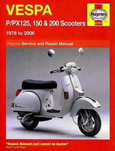 Vespa P/PX 125 150 And 200 1978-2006 Repair Manual
