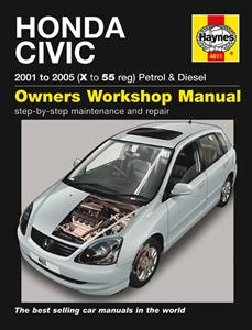 Honda Civic 2001-05 Repair Manual 1.4 1.6 Petrol & 1.7 Diesel