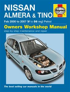 Nissan Almera (NZ Pulsar) & Tino 2000-07 Repair Manual Petrol 1.5 & 1.8