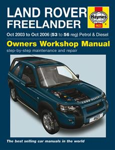 Land Rover Freelander 2003-06 Repair Manual 4 Cyl Petrol & Diesel NOT V6