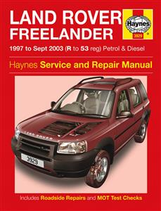 Land Rover Freelander 1997-03 Repair Manual 1.8 Petrol & 2.0 Diesel (Rover & BMW Engines)
