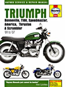 Triumph Bonneville T100 America Speedmaster And Thruxton 2001-2007 Repair Manual