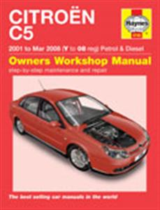 Citroen C5 2001-08 Repair Manual 1.8 2.0 Petrol & 1.6 2.0 Diesel