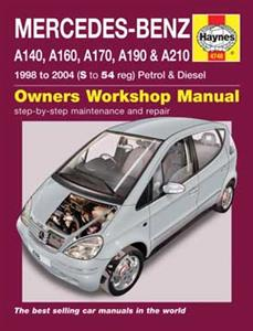 Mercedes Benz A Class 1998-2004 Repair Manual W168 Petrol & Diesel NO LONGER AVAILABLE
