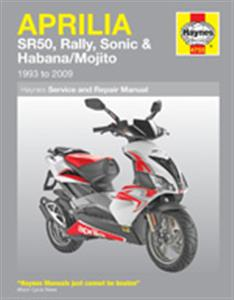 Aprilia SR50 Rally Sonic Habana & Mojito Scooters 1993-2008 Repair Manual