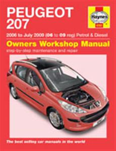 Peugeot 207 2006-09 Repair Manual 1.4 1.6 Petrol NOT Turbo & 1.4 1.6 Turbodiesel