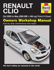 Renault Clio 2005-09 Repair Manual Petrol & Diesel