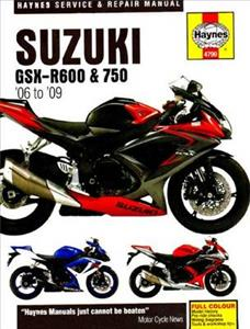 Suzuki GSX-R600 & 750 2006-09 Repair Manual