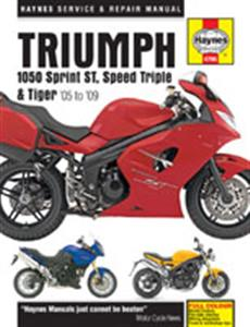 Triumph 1050 Sprint ST Speed Triple & Tiger 2005-2009 Repair Manual