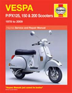 Vespa P/PX125 150 & 200 1978-2009 Repair Manual