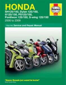 Honda 125 And 150 Scooters Repair Manual 2000-09 SH Dylan @ PS Pantheon And S-Wing Models