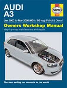 Audi A3 2003-08 Repair Manual 1.6 2.0 Petrol 1.9 2.0 Diesel