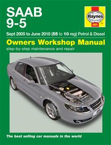 Saab 9-5 2005-10 Repair Manual 2.0 2.3 Petrol 1.9 Diesel