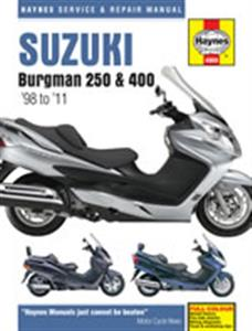 Suzuki AN250 1998-2001 & AN400 1999-2011 Burgman Scooters Repair Manual