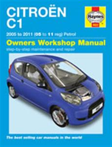 Citroen C1 2005-11 Repair Manual Petrol