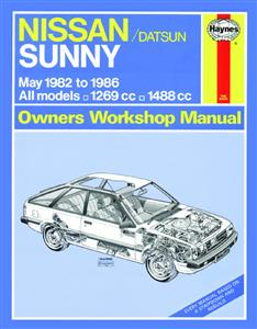 Nissan Sunny 1982-86 Repair Manual 1.3 1.5 Petrol